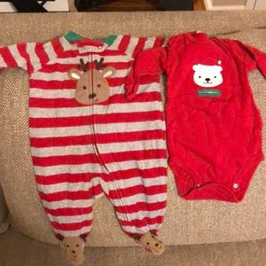 3 month Christmas sleeper and onesie